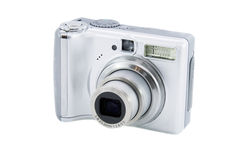 Silver digital camera Stock Image