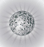 Silver disco ball Stock Images