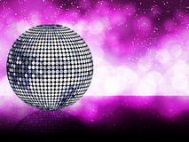 Silver disco ball background Stock Images