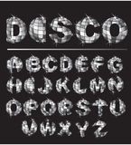 Silver disco ball letters  letter Royalty Free Stock Photography