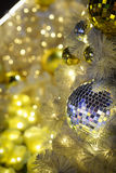 Silver disco mirror ball Stock Images