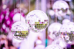 Silver disco mirror ball Stock Image