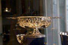 Silver dish Royalty Free Stock Image