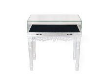 Silver display table Royalty Free Stock Photo