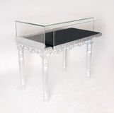 Silver display table Royalty Free Stock Images