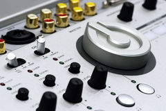 Silver DJ mixer Stock Photo