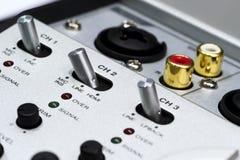 Silver DJ mixer Stock Images