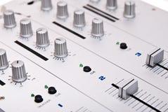Silver dj's mixer Royalty Free Stock Image
