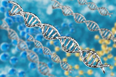 Silver dna structure Royalty Free Stock Images