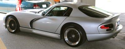 Silver Dodge Viper Sports Automobile Royalty Free Stock Photo