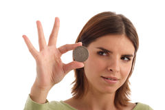 Silver dollar Stock Images