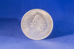 Silver dollar coin royalty free stock images