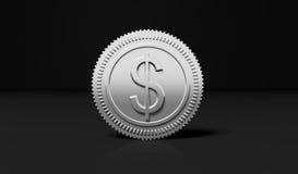 Silver Dollar coin Royalty Free Stock Photos