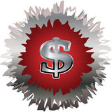 Silver Dollar Sign Symbol Stock Image
