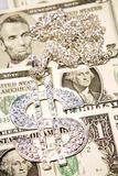 Silver dollar symbol Royalty Free Stock Photo