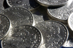 Silver Dollars Stock Photos