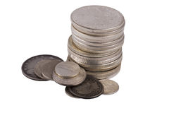 Silver dollars Royalty Free Stock Images