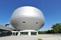 Silver dome and facade of BMW Museum Royalty Free Stock Photography