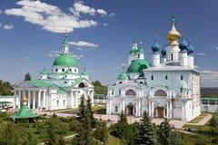 Silver domes in Rostov the Great. Kremlin Stock Photo