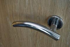 Silver door handle Stock Images