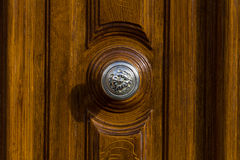 Silver door knob Royalty Free Stock Photos