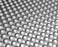 Silver dots pattern background Stock Photography