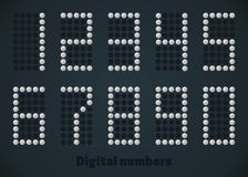 Silver dotted numbers, vector digital picture for monitor, display, web, mobile. Silver dotted numbers, vector digital picture for display web and mobile Stock Images