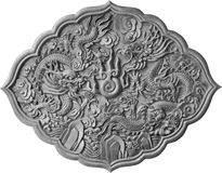 Silver dragon carved Royalty Free Stock Photography