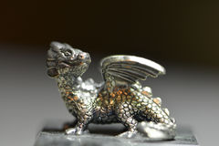 Silver dragon Stock Image