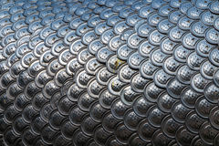 Silver dragon scales background Royalty Free Stock Photography