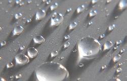 Silver drops Stock Photography