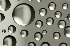 Silver drops Royalty Free Stock Photography