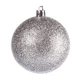 Silver dull christmas ball Royalty Free Stock Photos