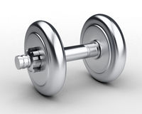 Silver Dumbbell Royalty Free Stock Photography