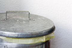 Silver Dustbin Royalty Free Stock Image