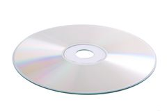 Silver DVD isolated on white Stock Images