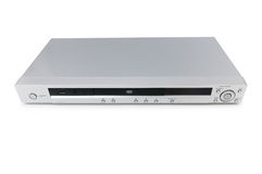 Silver DVD player isolated Stock Photos