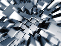 Silver dynamic motion block background Royalty Free Stock Photo