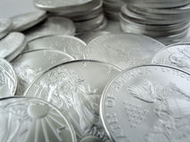 Silver Eagle $1 U.S. Bullion Coins Royalty Free Stock Photos