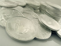 Silver Eagle $1 U.S. Bullion Coins Royalty Free Stock Photography