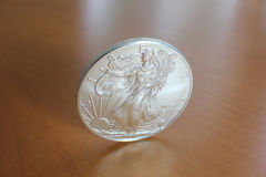 Silver Eagle Coin Stock Image