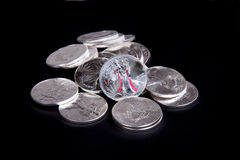 Silver Eagle Liberty Coin Stock Image