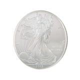 2013 silver Eagle Obverse Royaltyfria Foton