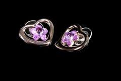 Silver earring Stock Photo