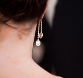silver earring Royalty Free Stock Image