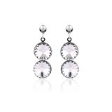 Silver earrings Stock Images