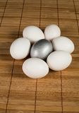 Silver Easter eggs Royalty Free Stock Images