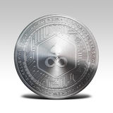 Silver edgeless coin isolated on white background 3d rendering. Illustration Stock Photography