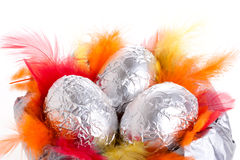 Silver eggs Royalty Free Stock Photo