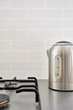 Silver Electric Kettle Stock Photography